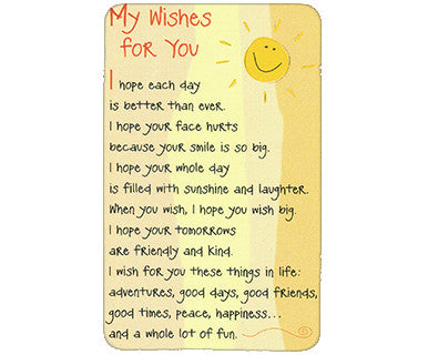 My Wishes for You I Hope Each Day Wallet Card