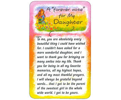 Forever Note Daughter - Wallet Card