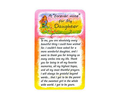 A Forever Note For My Daughter/To Me - Wallet Card