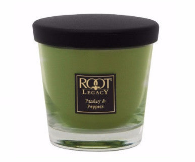 Root Candles Small Veriglass- Parsley & Peppers - Pi Style Boutique - Root Candles
