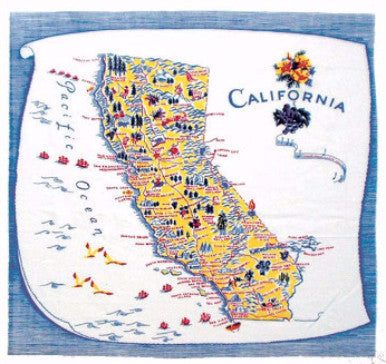 "22"" Flour Sack Towel - California - Pi Style Boutique - Red and White Kitchen Company"