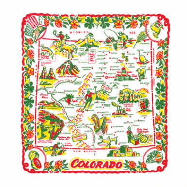 "22"" Flour Sack Towel - Colorado - Pi Style Boutique - Red and White Kitchen Company"