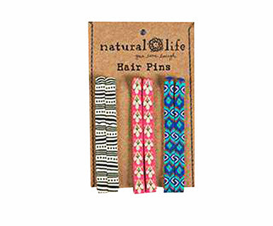 Hair Pins Blue/Pink/Blk&Wht - Pi Style Boutique - Natural Life - Gift & Decor