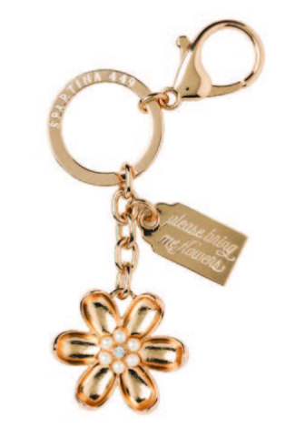 Oh So Witty Blossom - Spartina 449 Keychain - Pi Style Boutique - Spartina - Accessories