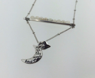 To the Moon - Stone Charm Necklace - Pi Style Boutique - Ethel & Myrtle - Accessories - 2