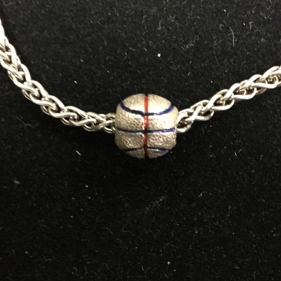 Enameled Basketball - Reller Gold Bead (FINAL SALE)