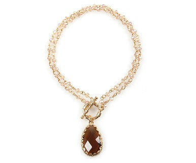 Crystal Drop - Convertible Necklace - Pi Style Boutique - Noelle - Accessories - 3