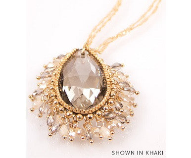 BP Vintage Crystal Drop Necklace - Pi Style Boutique - Noelle - Accessories