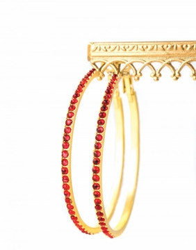 Beaded Hoop Earrings - Pi Style Boutique - Spartina