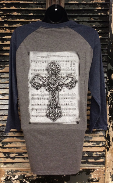 Old Rugged Cross Baseball Tee