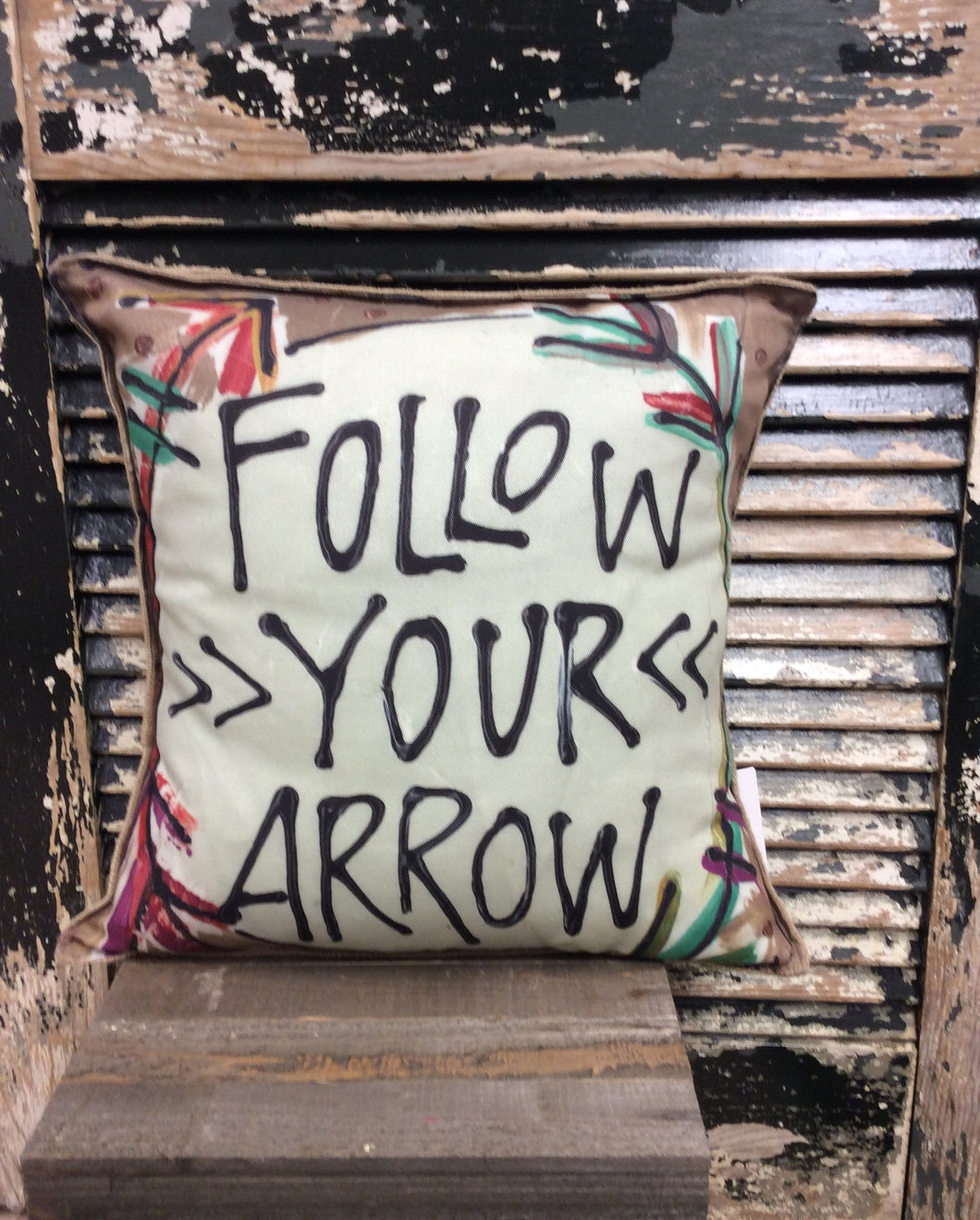 Follow You Arrow Pillow