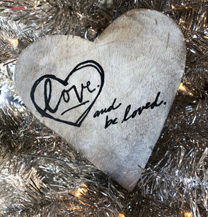 Love Wood Ornament