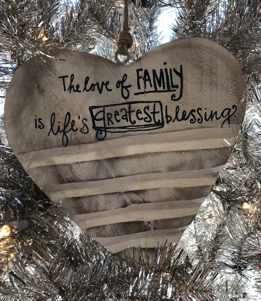 Family Wooden Ornament