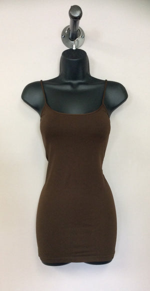 Extra Long Brown Seamless Tank