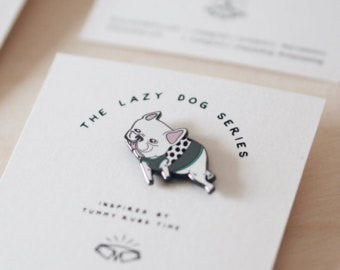 ohpopdog frenchie pin