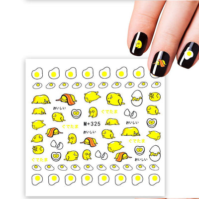 NailCandi™Fried Egg Cartoon Water Decals