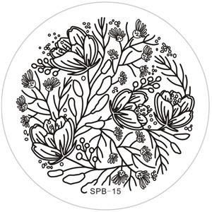 NailCandi™Paisley Party Stainless Steel Stamping Image Plate -SPB-22