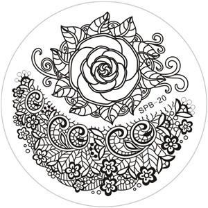 DS-OB - Paisley Party Stainless Steel Stamping Image Plate -SPB-22