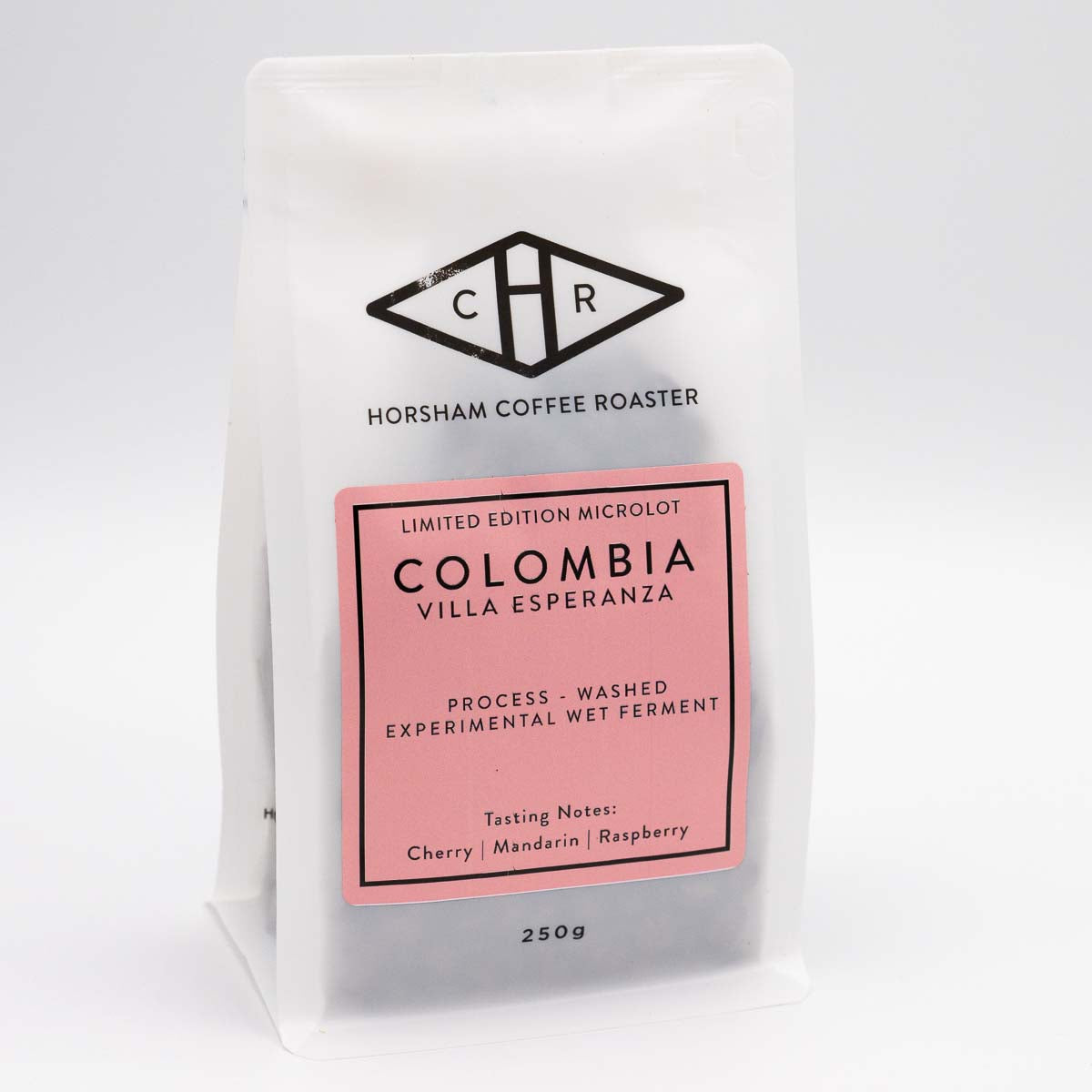 Colombia coffee beans in packaging