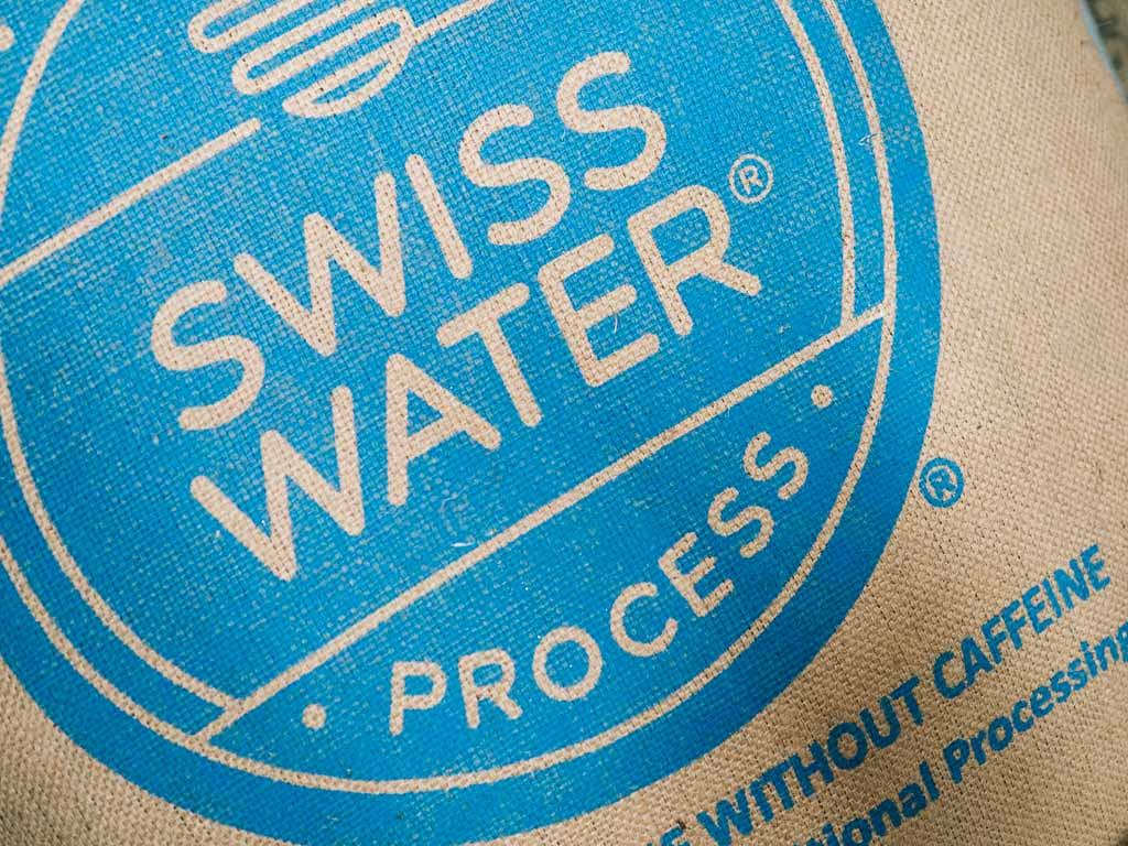 Decaffeinated coffee beans by Swiss Water