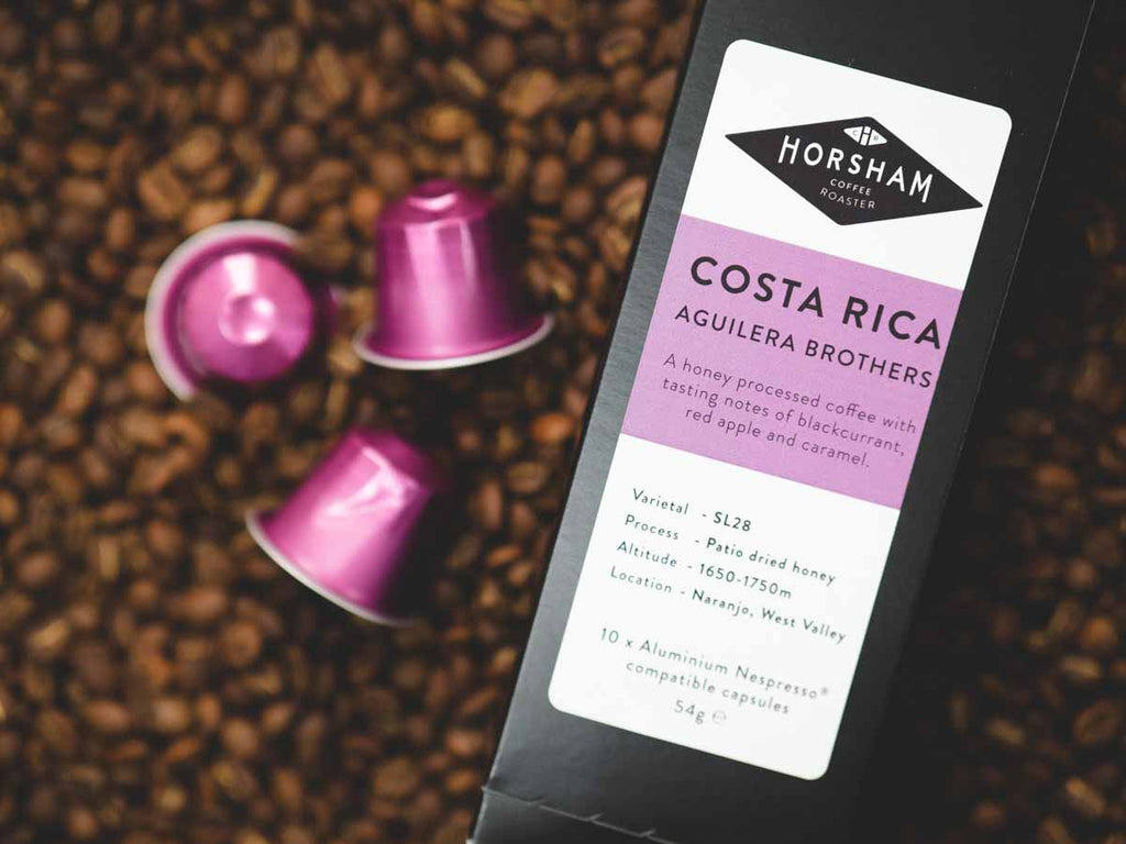 Speciality coffee pods from Costa Rica