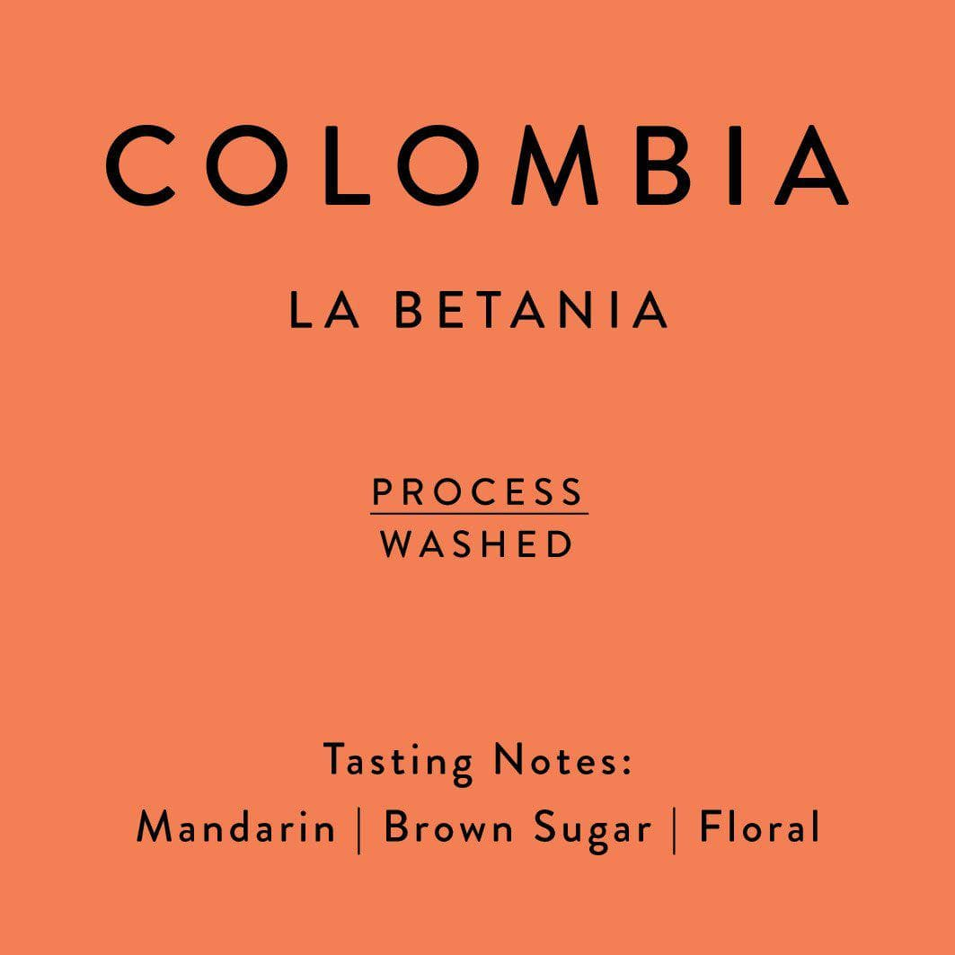 Colombia La Betania coffee