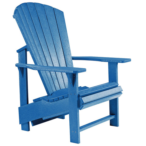 Upright Adirondack Chair - Blue