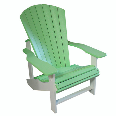 Adirondack Chair - Lime Green and White