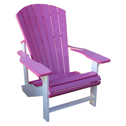 Adirondack Chair - Fuschia and White