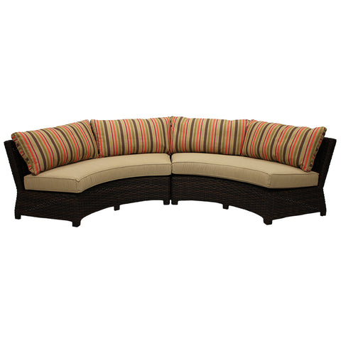 Amalfi Sectional in Fiesta and Dupione Sand