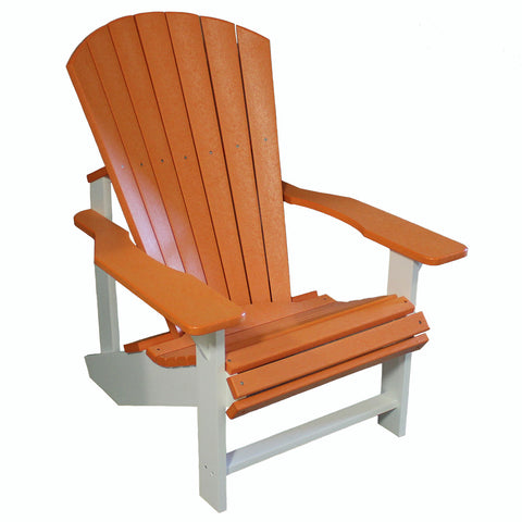 Adirondack Chair - Orange and White