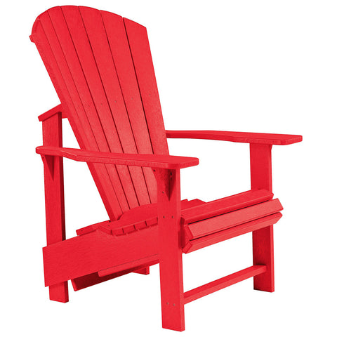 Upright Adirondack Chair - Red