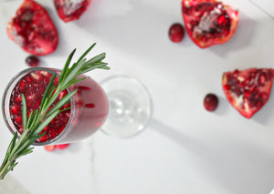 Sparkling Pomegranate & Cranberry Mimosas