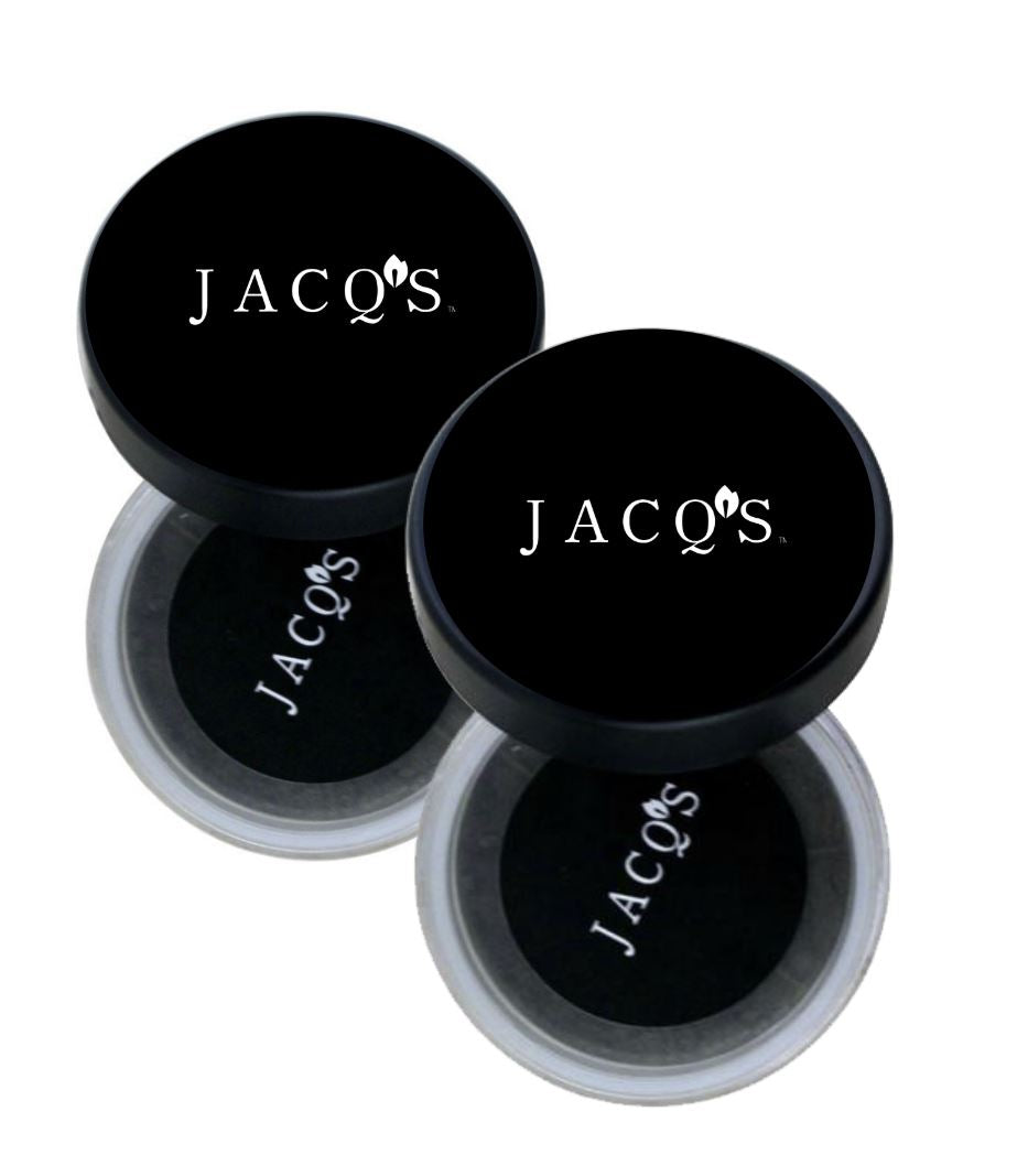 2 jars of JACQ's detoxifying charcoal face mask & scrub