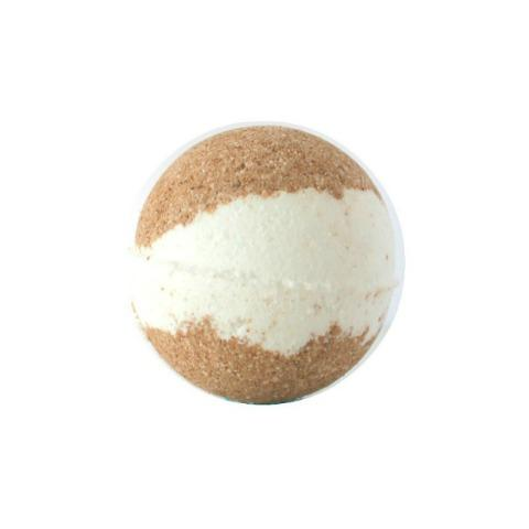 JACQ'S CHOCOLATE BATH BOMB, WHITE CENTER