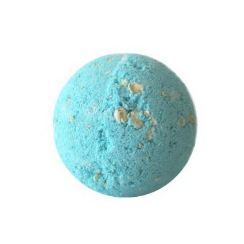 JACQ's organic chocolate & almond bath bomb blue