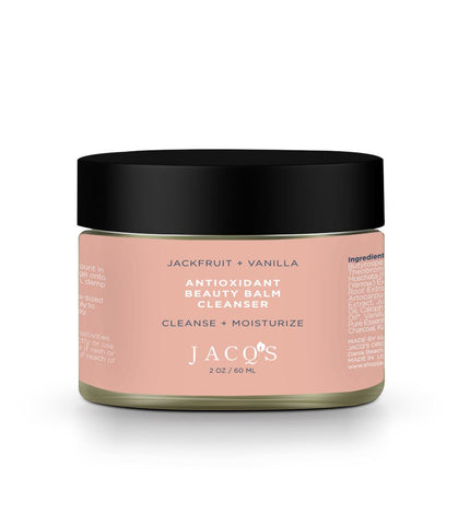 JACQ's Jackfruit & vanilla antioxidant beauty bar cleanser, pink jar