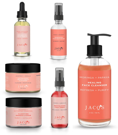 6 JACQ's skincare products, Operation Glow 4.0