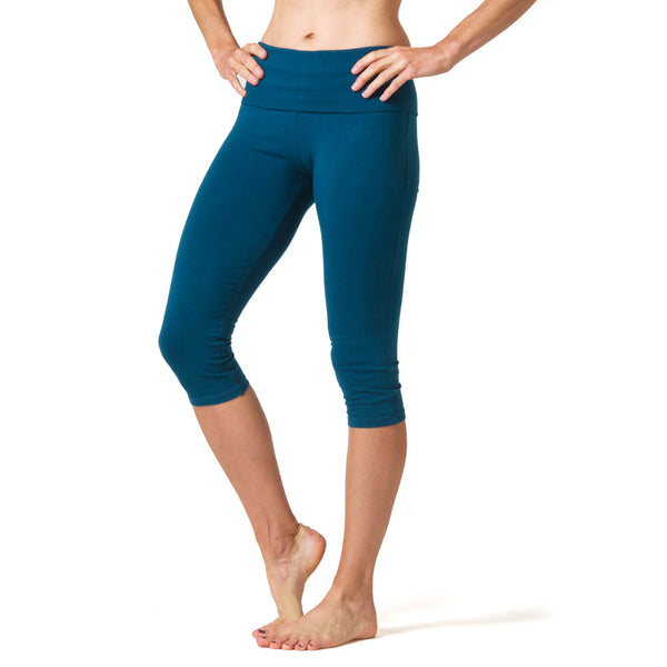 Love Capri Leggings - Dark Teal