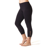 Love Lace-up Capri Legging - Black