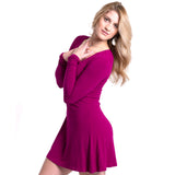 Bamboo Fuchsia Long Sleeve Dress