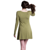 Bamboo Long Sleeve Dress Olive