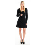 Bamboo Long Sleeve Dress Black