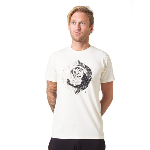 Zane Prater Yin Yang Organic Cotton T-shirt mens cream
