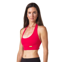 Love Lace-up Yoga Bra - Red