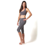 Love Lace-up Yoga Bra - Black and Gray