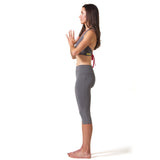 Love Capri Leggings - Charcoal Gray