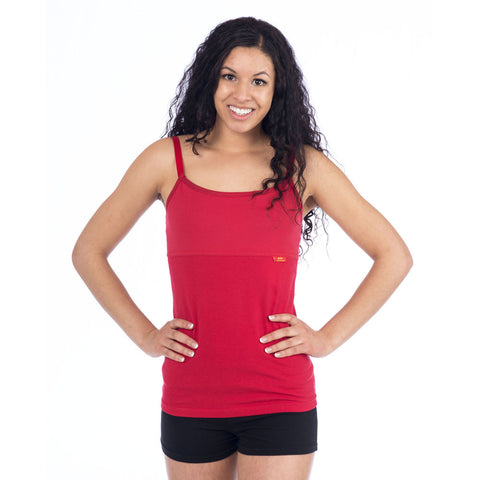 Strength Yoga Tank Camisole - Red