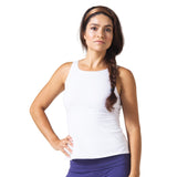 Wisdom Sleeveless Yoga Top - White