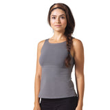 Wisdom Sleeveless Yoga Top - Charcoal